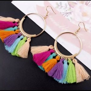 *3 for $10* Brand New - Multi Color Tassel Earring